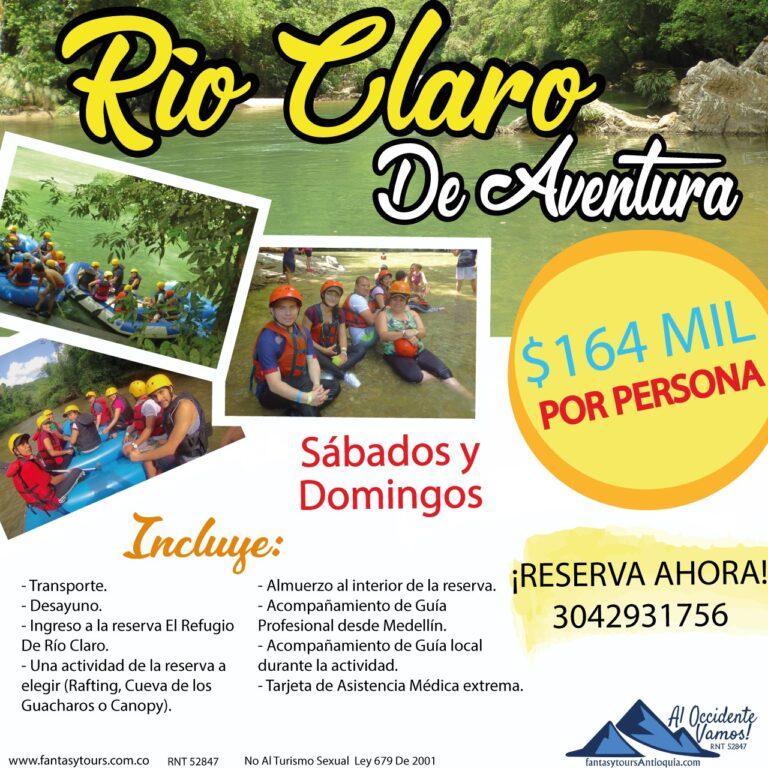 Río Claro, próximo sábado y domingo