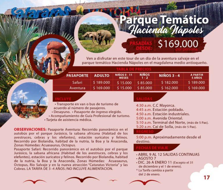 Tour al Parque Temático Hacienda Nápoles