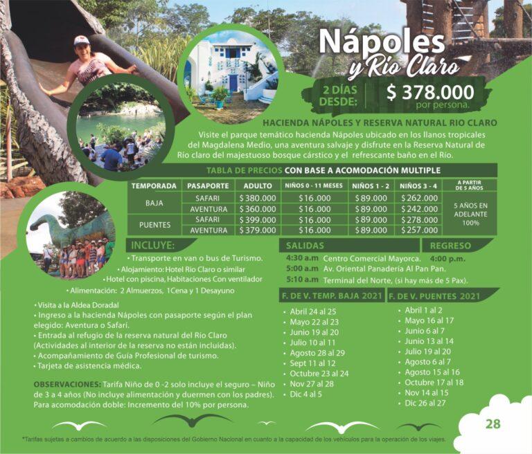 Tour a la Hacienda Nápoles y Río Claro