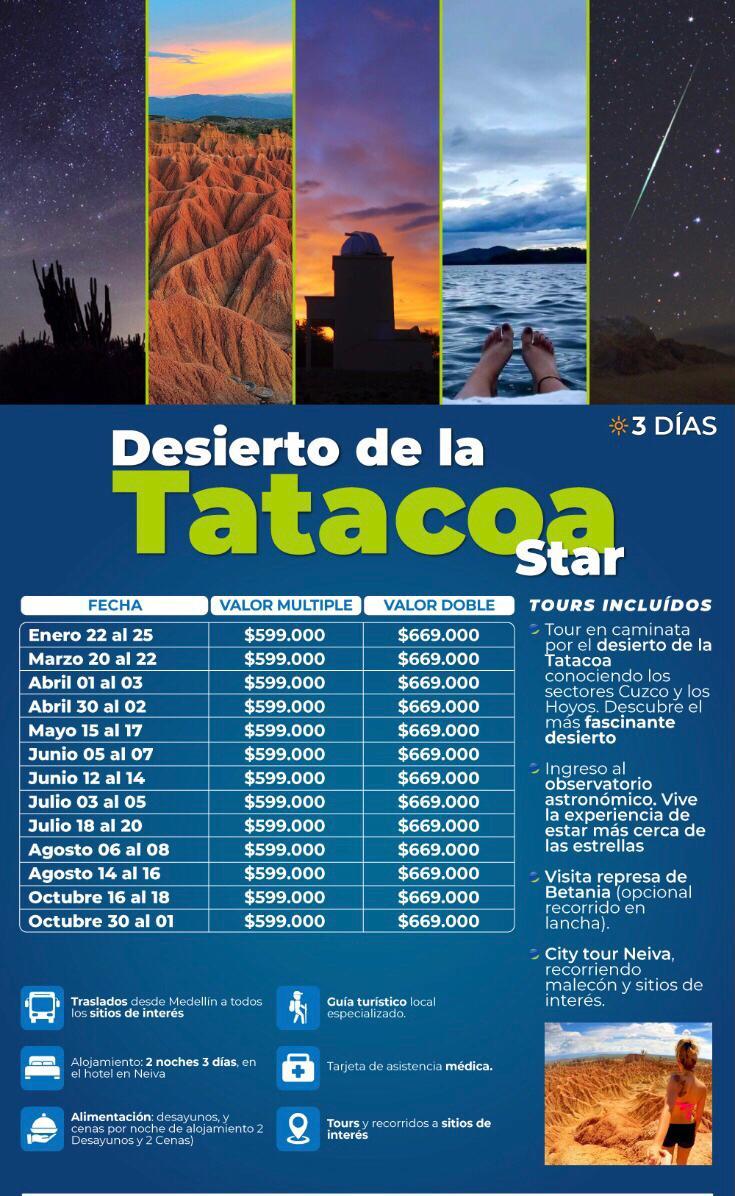 Excursión al desierto de la Tatacoa en mayo, junio y agosto 2021