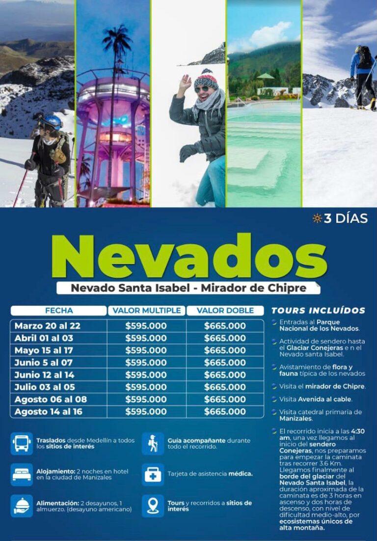 Excursión al nevado de Santa Isabel, junio, julio y agosto 2021