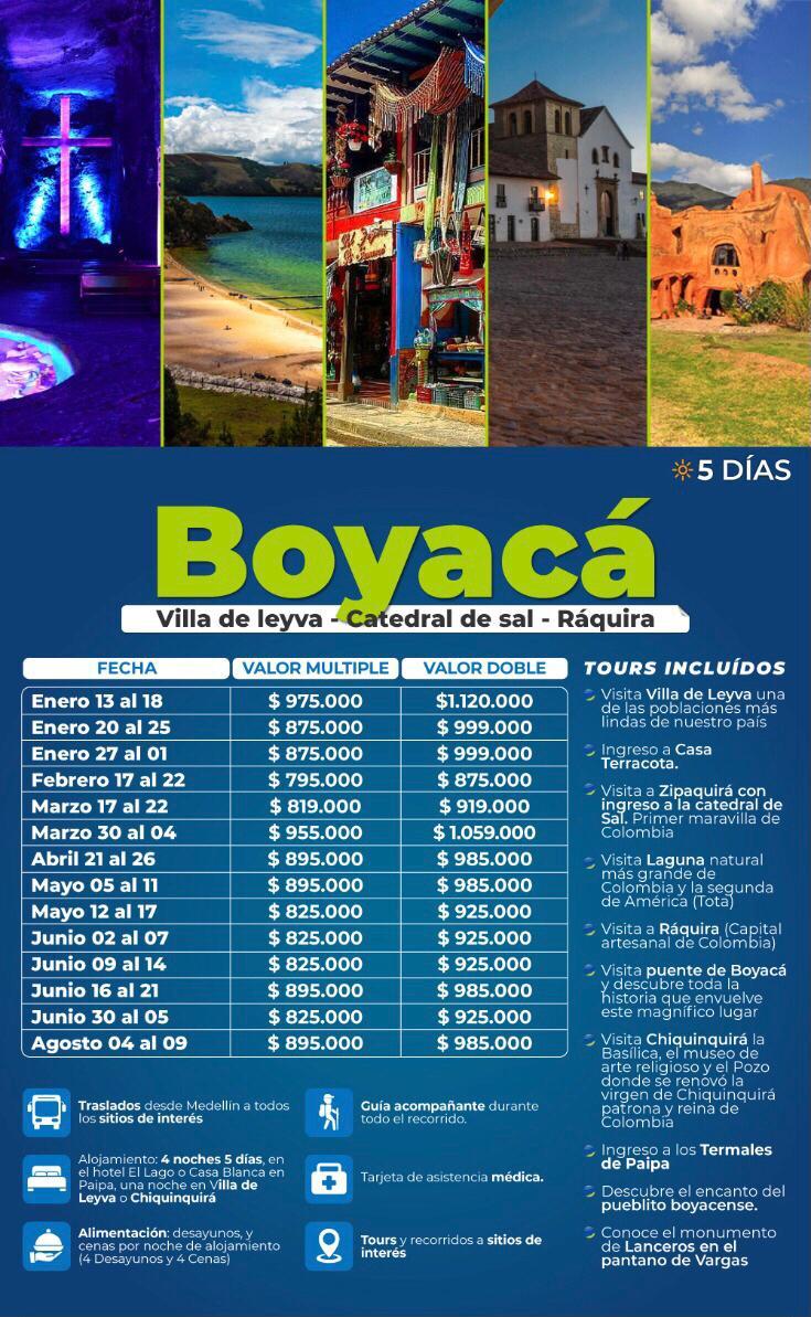 Excursión a Boyacá, mayo, junio y agosto 2021