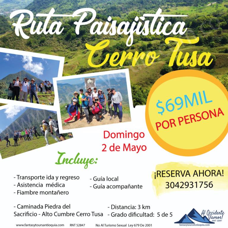 Cerro Tusa, 2 de Mayo